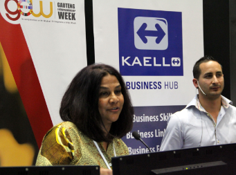 Chimene Chetty Director of the Centre for Entrepreneurship at the Wits Business School, talking to the 2013 Gauteng Entrepreneurship Week guests, whil