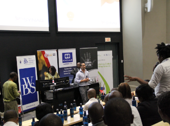 David Jacobson Co-Founder of SYNAQ, addressing one of the 200 attendees during a Q&A session at the 2013 Gauteng Entrepreneurship Week Conference